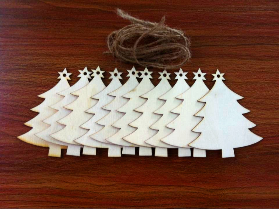 unids rboles de madera para colgar del rbol de navidad en blanco etiqueta de regalo formas de rbol de navidad decoracin en rbol toppers