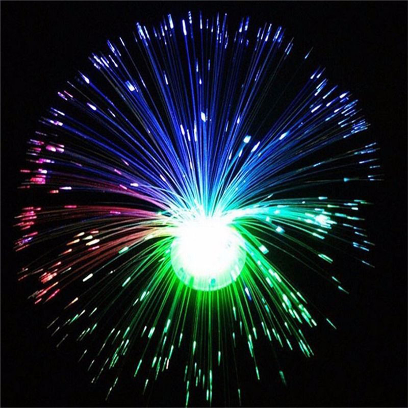 NDTUSMZ 1PC Novelty Color Changing LED Fiber Optic Night Light Lamp Stand Decor Children Christmas Gift Night Lamp
