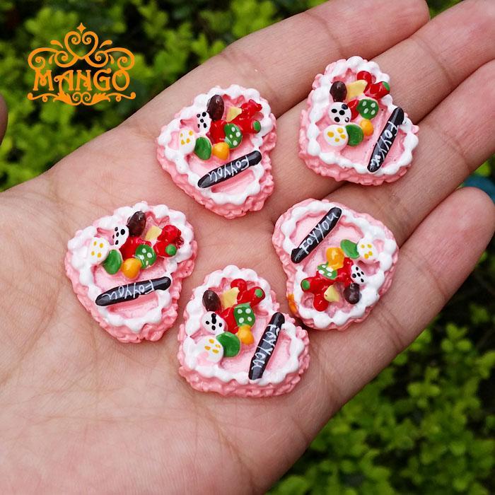 1:12 Dollhouse Miniaturowe ciasto owocowe dla Ciebie 5 sztuk Darmowa dostawa