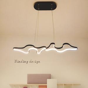 Image 4 - Creative Modern Led Hanging Pendant Lights For Shop Bar Dining Kitchen Room AC85 265V Acrylic Led Pendant Lamp Free Shipping