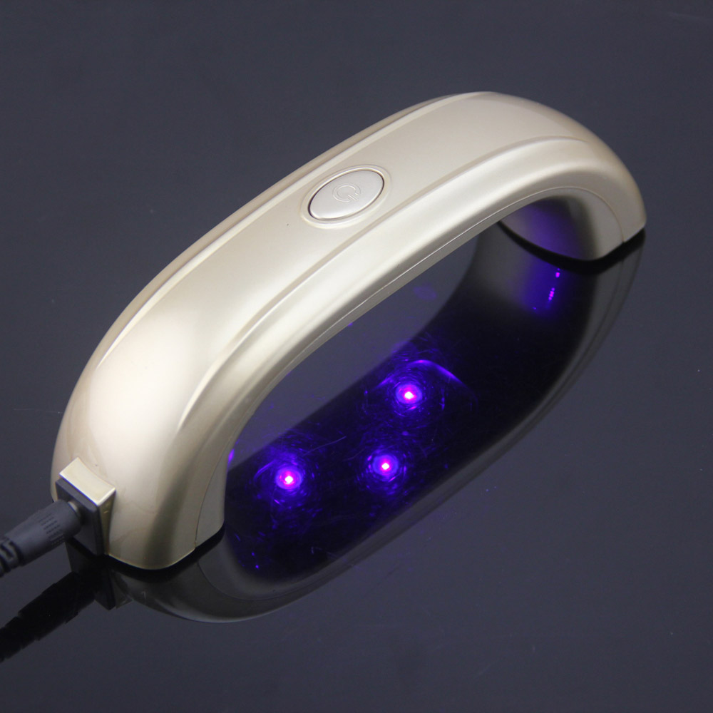LKE Newest 9W Mini LED UV Lamp Gel Nail Polish Nail Dryer ...