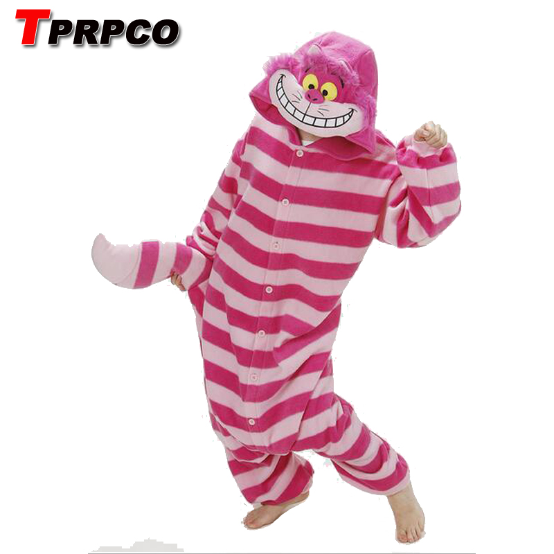 TPRPCO Winter New Sleepsuit Adults Cartoon Cheshire Cat Onesies Unisex Onesies Pajamas Cosplay Costumes NL189
