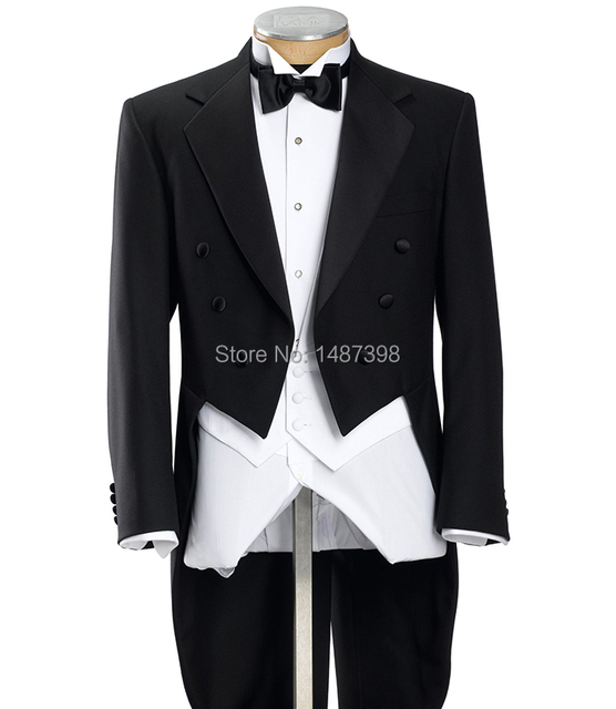 Free Shipping tuxedo suit Groom Tuxedos Peak Lapel Groomsmen Men ...