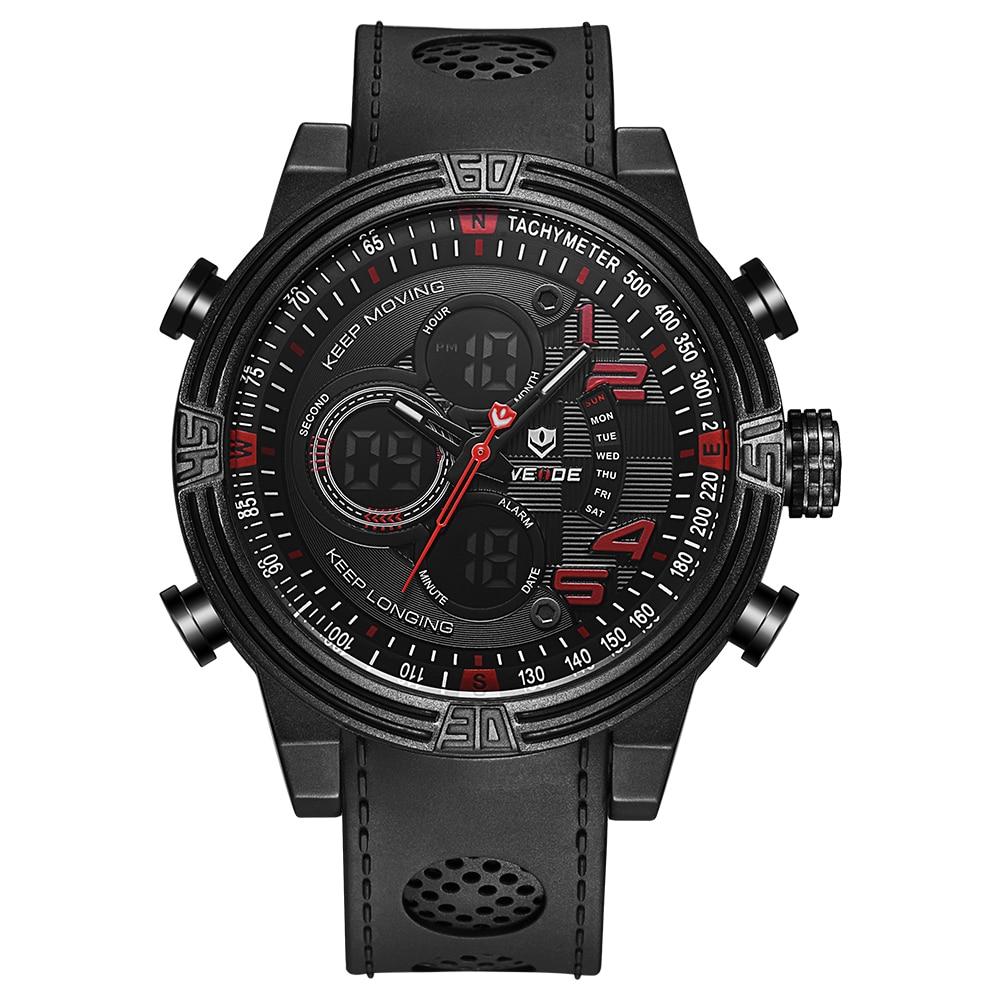 ФОТО WEIDE Multiple Time Zone Sport Casual Watch for Men Running Outdoor Sports Quartz Watch Waterproof Clock  Military Wristwatch