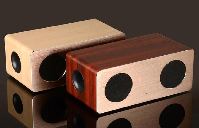 Retro Wooden Bluetooth Speaker Wireless 3D Dual Loudspeakers Support TF Card Sound Box Audio Stereo