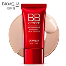 цена BIOAQUA Fresh Nude Make-up BB Cream Whitening Concealer Face Primer Isolation Waterproof Big Red CC Cream в интернет-магазинах