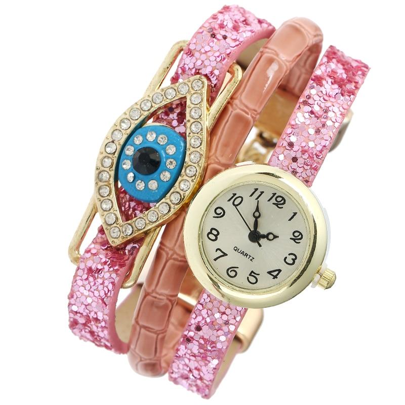 Gnova Platinum Fashion Sequin Strap Bracelet Watch Women Crystal Blue Eye Dress Wristwatch Quartz Relogio Feminino Gift A849 green 50mm width 2m 2t flat eye to eye web lifting strap tow strap