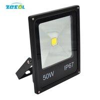10pcs LED Floodlight 50W focus 220v 50waluminium pcb spotlight garden outdoor lighting