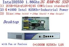 firewall server with atom D2550 1.86G four*intel PCI-E 1000M 82583v Lan help Panabit Wayos ROS Mikrotik PFSense 2G RAM 8G SSD