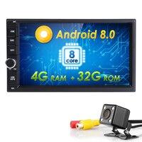 Hizpo Octa Core 7 2 Din Android 8.0 Car NO DVD Radio Multimedia Player 1024*600 Universal GPS Navigation autoradio Stereo Audio