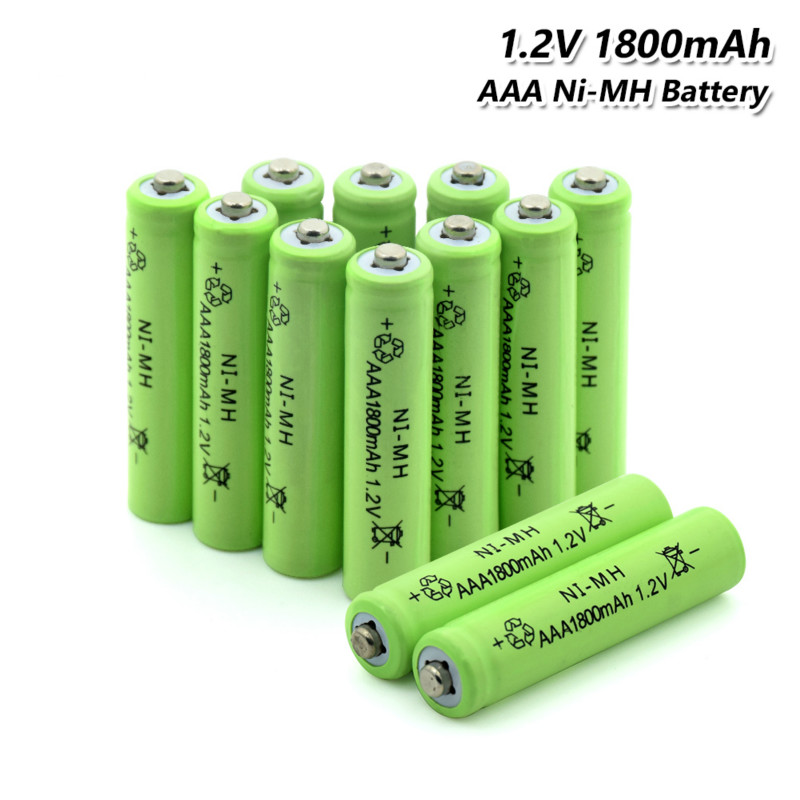 4/8/12Pcs Top Brand Green Rechargeable Battery AAA 1800 MAh Pre/Stay Charge Ni-MH Cells  Batteries HR03, LR03