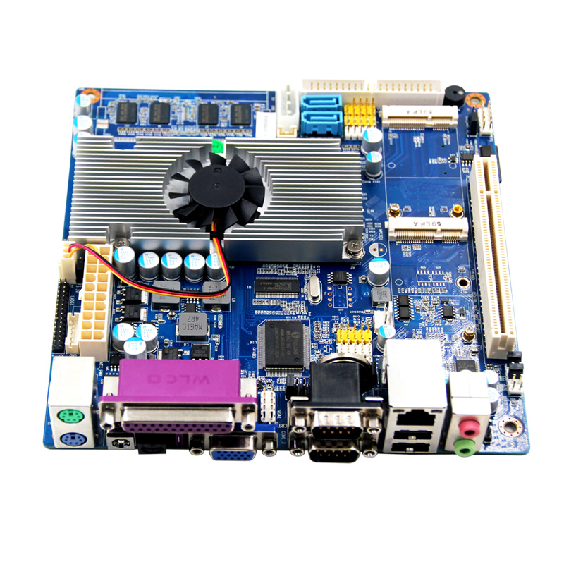 N450 POS mainboard fanless mini itx motherboard support RTL/PXE diskless booting