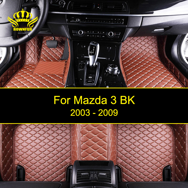 New Car Floor Mats For Mazda 3 BK Custom Fit Most Cars Front Back Model Artificial Leather Carpet Mats Protect Interior Car Mats вафельница clatronic wa 3491 weiss page 3