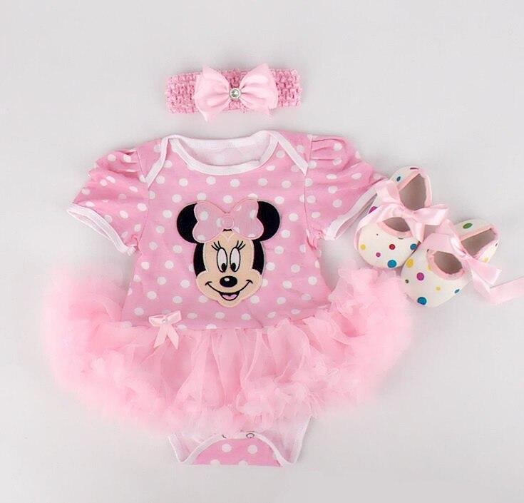 Newborn Baby Girl Dresses 3pcs Clothing Sets Suit Infant Romper Jumpersuit Bebe Party Wedding