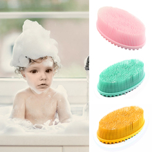 Silicone Bathroom Puff Scalp Shampoo Baby Exfoliating Bubbles Soft Shower Scrubber Massage Body Brush Bath Home