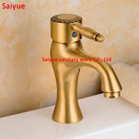 Euro Carving Antique Brass Single Knob Hole WashBasin Faucet Deck Mounted Bathroom Sink Sprout Mixer Vintage