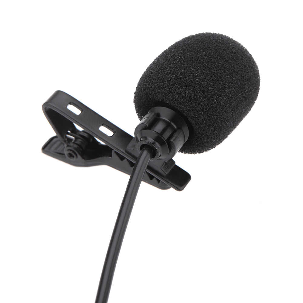 Gran oferta, micrófono de Metal Mono de 3,5mm, micrófono de Clip Lavalier para altavoz Lound, ordenador portátil con Clip de cuello