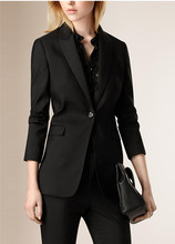 Slim work wear Elegant women pant jacket OL Fashion women's Formal Plus size Office Business pants suit (Jacket +Pants)