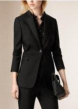 Slim work wear Elegant women pant jacket OL Fashion women's Formal Plus size Office Business pants suit (Jacket +Pants)