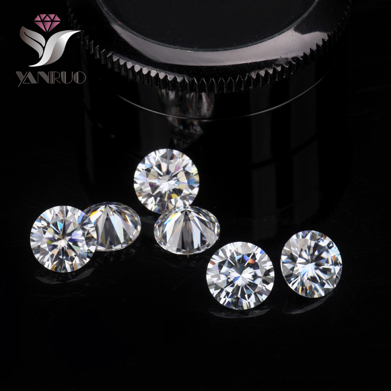 YanRuo #1357 1000pcs 1.75mm Shiny Zircon Rhinestones For Nails Charms Crystal Pixie Zircon diamond Pointback Rhinestone