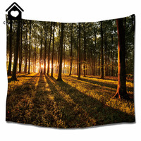 CHARMHOME Forest Pattern Wall Hanging Tapestry Natural Landscape Bedroom Living Room Beach Cover Polyester Fabric Wall