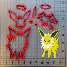 Pokemon Jirachi Cookie Cutter Set Custom Made 3D Printed Fondant Cupcake Top Jolteon For Cake Decorating Tools