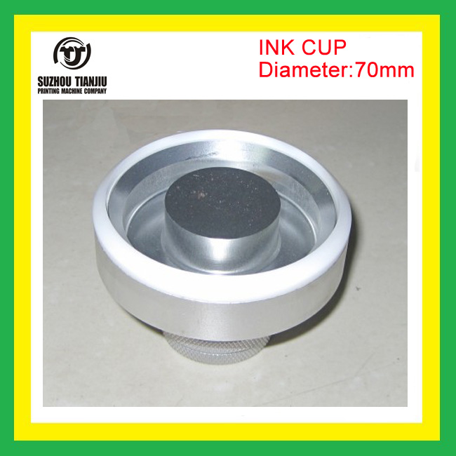 Wholesale pad printing ink cup with ceramic ring inside diameter=70mm double broadsword ceramic ring for winon pad printing machine