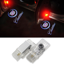 2X Car Door Ghost Shadow Lights Auto Laser Car Styling LED Door Courtesy Projector Light For Cadillac Lac SRX CTS ATS XTS