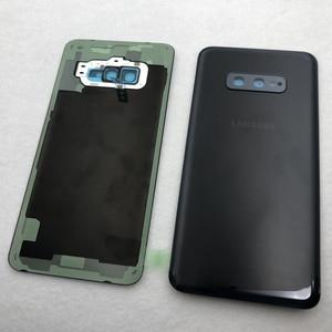 Image 4 - סוללה זכוכית כריכה אחורית עבור Samsung Galaxy S10e G970 G970F SM G970F אחורי דלת שיכון כיסוי עם מצלמה עדשה עמיד למים דבק