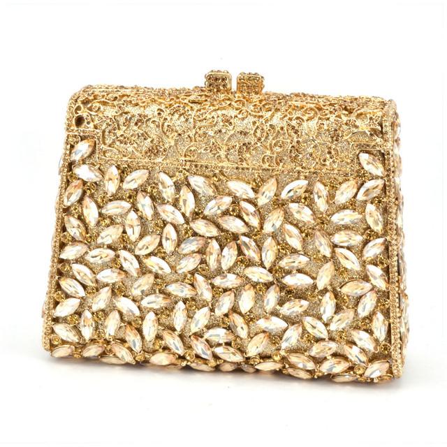 Crystal Metal, Hard Case Evening Clutch Bag