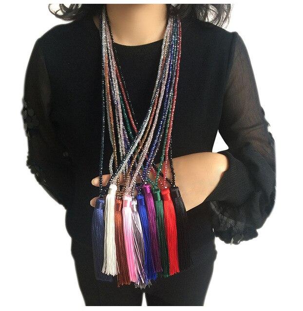 Naomy и zp Бренд длинной кисточкой ожерелье для женщин заявление