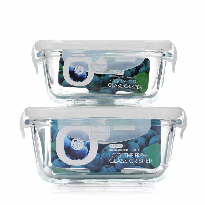 48071d186e77 Glass Food Storage Meal Prep Container BPA Free Lunch Box Containers ...