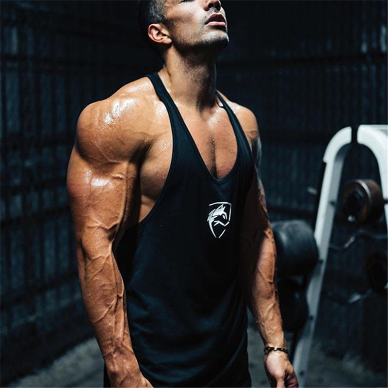 Summer Men's Close-fitting Vest Fitness Elastic Gyms Casual O-neck Breathable Men Vest Cotton Solid Undershirts Male   Tank     Tops