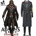 Assassins creed косплей костюм assassins creed синдиката Джейкоб Косплей Костюм Кредо убийцы куртка Балахон Хэллоуин костюм