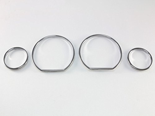 NEW OEM XTREME CLUSTER CLEAR LENS ASSEMBLY CHROME RING GAUGE TRIM MANUAL TRANNY