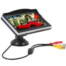 Новое Прибытие 5 дюйма Авто Монитор TFT ЖК-дисплей Заднего Вида Экран резервного копирования безопасности вождения и Парковки Автомобилей sucker Мониторы для DVD Обратный
