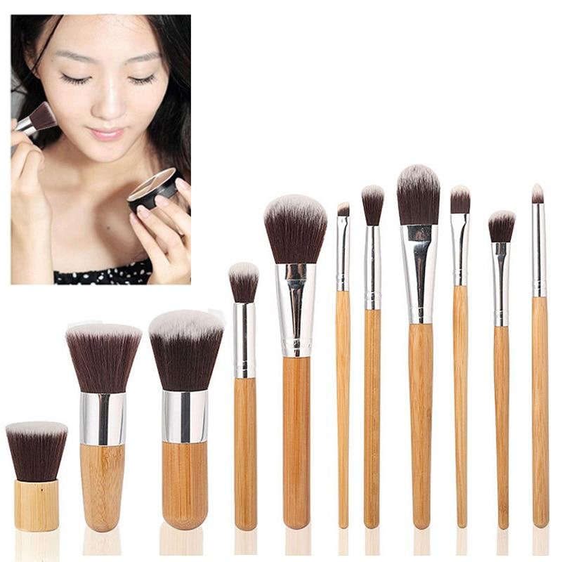 Высокое качество бамбуковой ручкой макияжа Make Up щетки Косметические инструмент тени д ...