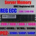 Server 16 GB (2x8 GB) DDR2 667 MHz PC2-5300P RAM 4 GB 2Rx4 PC2-3200 DDR2 400 MHz REG ECC 2 GB PC2 6400 P 800 MHz Registriert ECC Speicher