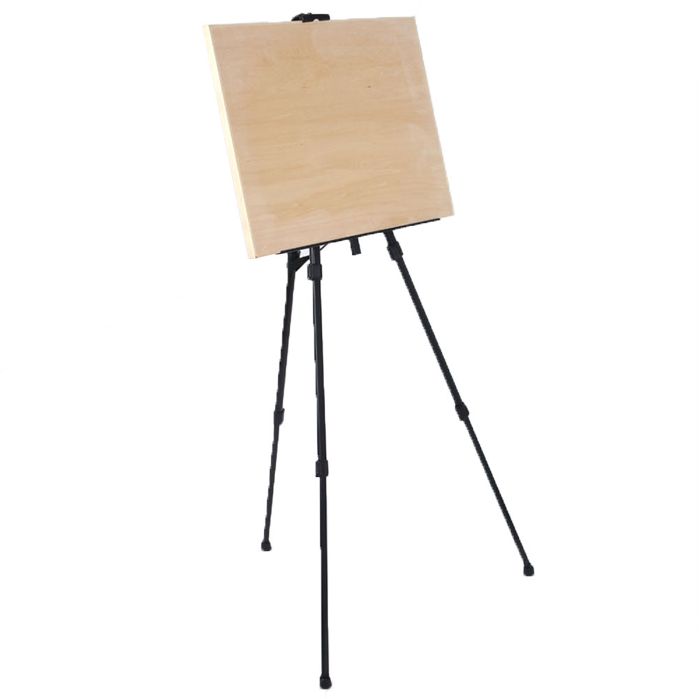 Outdoor Iron Sketching Telescopic Display Stand Travel Black Painting Easel Portable Artist Craft Supplies Folding Desktop