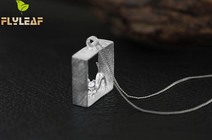 Flyleaf 100% 925 Sterling sølv katte halskæder & vedhæng til - Mode smykker - Foto 6