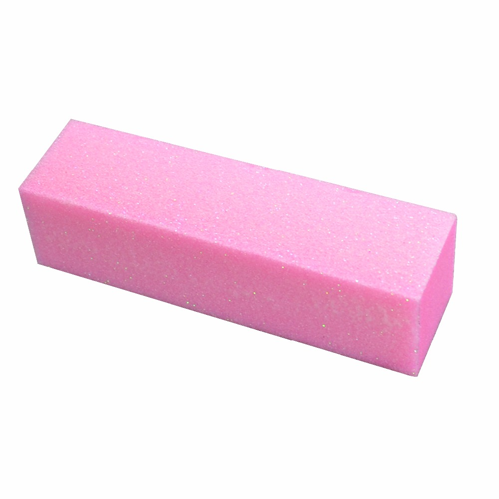 2 Pieces Pink Buffer Block Acrylic Nail Art Care Tips Sanding Files Tool Wholesale 4 Ways Shine High Quality
