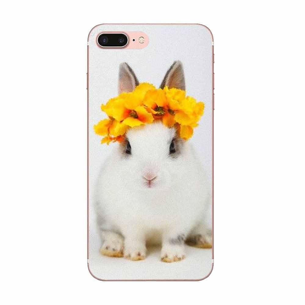 Para Samsung Galaxy alfa Core nota 2 3 4 S2 A10 A20 A20E A30 A40 A50 A60 A70 M10 M20 M30 funda transparente para móvil Fundas Coque cubierta conejo