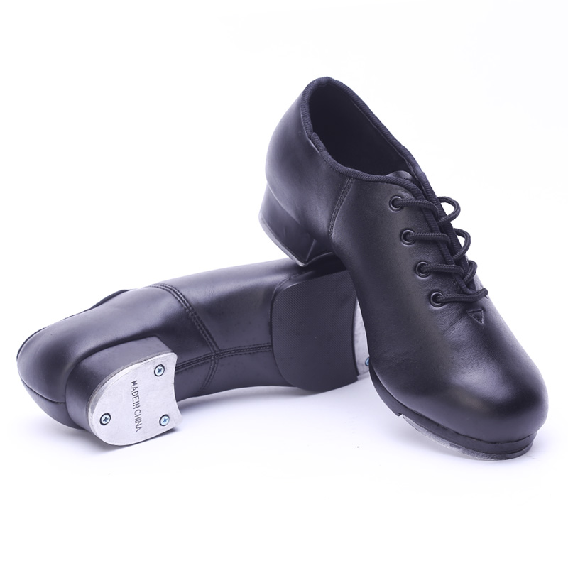 Classic Type Cowhide Leather Lacing Stepdames Shoes Black Soft Outsole Tap Dance Shoes Teachers Stage Shoes for Men and Women single handle deck mounted brass chrome bathroom basin sink faucet mixer taps tree194