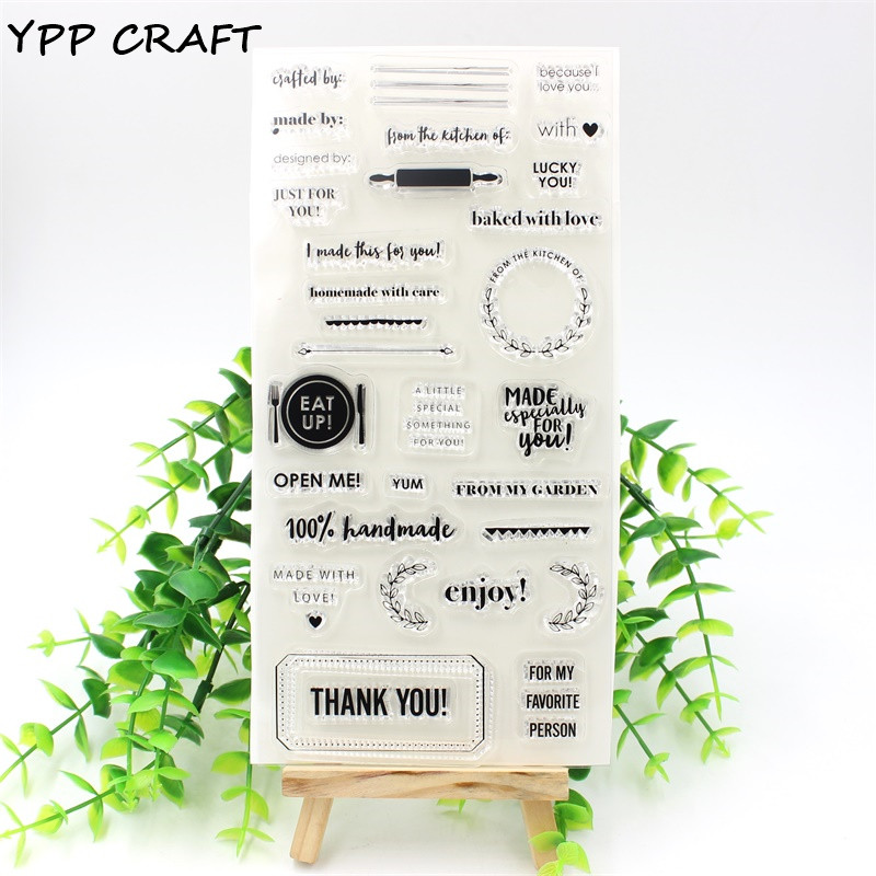 YPP CRAFT 1 Sheet Thank You Transparent Clear Silicone Stamps for DIY Scrapbooking/Card Making/Kids Fun Decoration Supplies ypp craft post card transparent clear