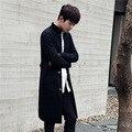 Осень зима новые длинные мужчины кардиганы свитера мужской моды свободно вязать свитер пальто высокого качества перемычки мужские случайные свитер Q666