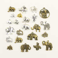 10pcs Charm Women Backless Dress Animal Elephant Supplies For Jewelry Materials Hand Made Charms