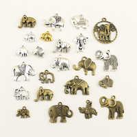 10 pçs charme feminino vestido sem costas animal elefante suprimentos para materiais de jóias feitos à mão encantos