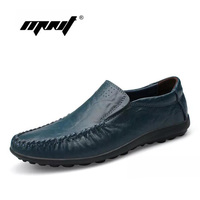 Handmade Genuine Leather Men Flats, Fashion Soft Leather Men Shoes Loafers men Moccasins zapatos hombre