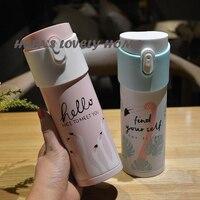 320ML Female Student CupCartoon Thermos Vacuum Cute Stainless Portable Water Bottle Mini Caneca Termica Garrafa Cup