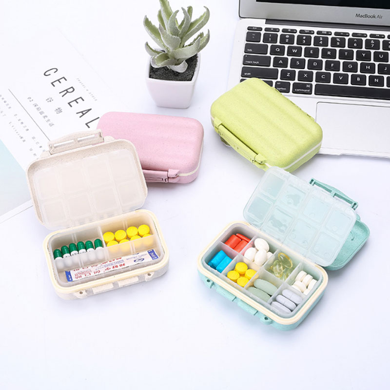 Portable 6-Grid Mini Medicine Storage Box Drug Sealed Pill Box Travel Kit Outdoor Organizer Container Accessories Supplies
